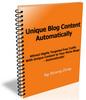 Unique Blog Content Automatically + Master Resale Rights