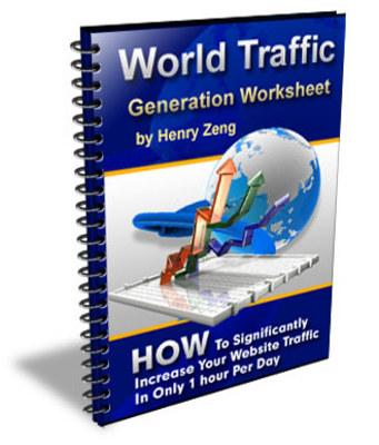Product picture World Traffic Generation Worksheet + Rebrand $ Make Money